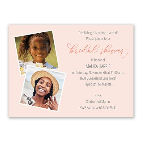 Then and Now Bridal Shower Invitation