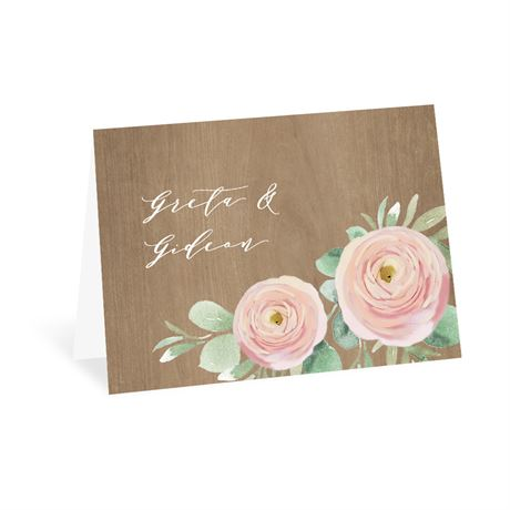 Country Blossoms Thank You Card