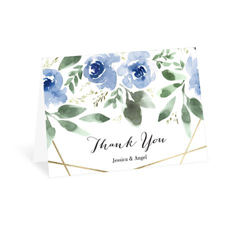 Blooming Geo Periwinkle Thank You Card