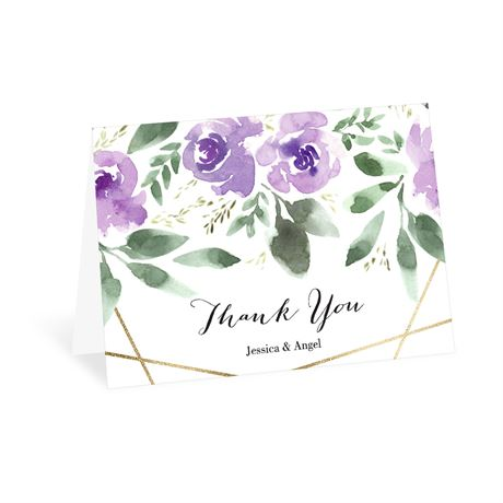 Blooming Geo Lavender Thank You Card