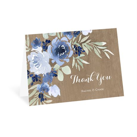 Rustic Beauty Periwinkle Thank You Card