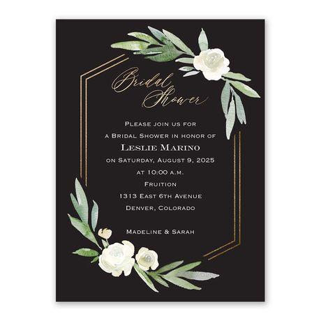 Budding Beauty Bridal Shower Invitation