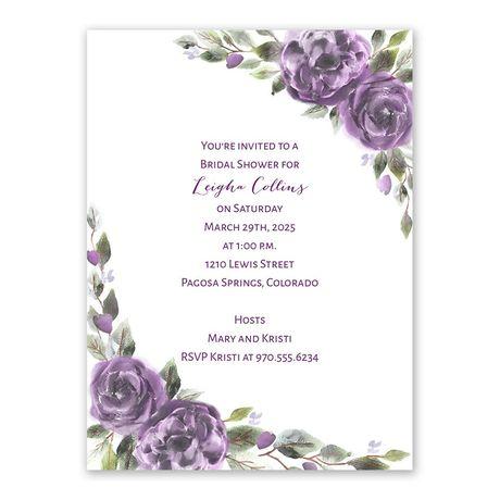 Pretty in Purple Bridal Shower Invitation