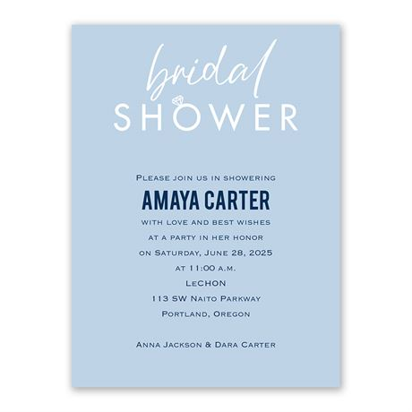 With this Ring Bridal Shower Invitation
