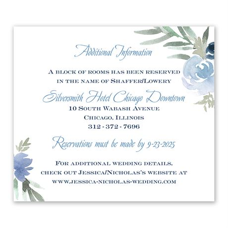 Blooming Periwinkle Information Card