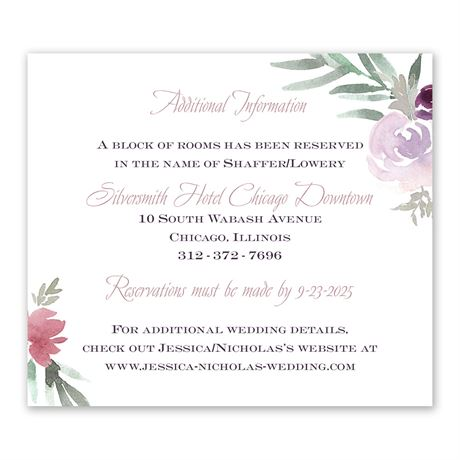 Blooming Plum Information Card
