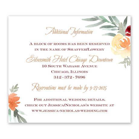 Blooming Peach Information Card