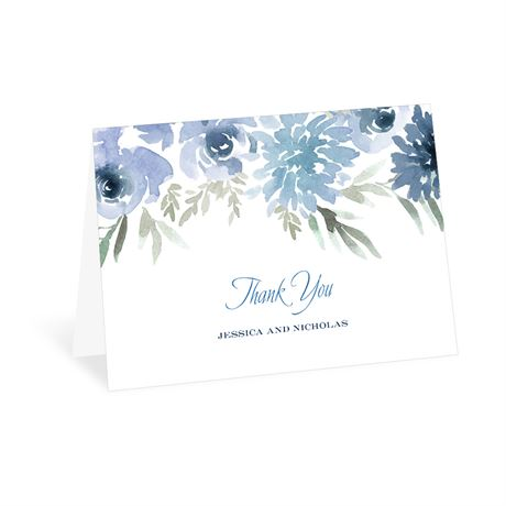 Blooming Periwinkle Thank You Card