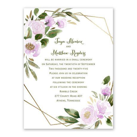 Modern Floral Wisteria Reception Invitation