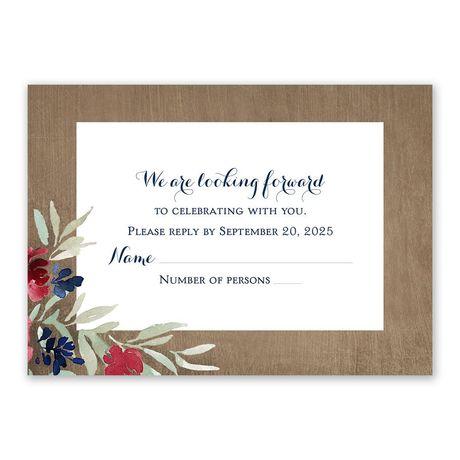 Natural Blooms Response Card