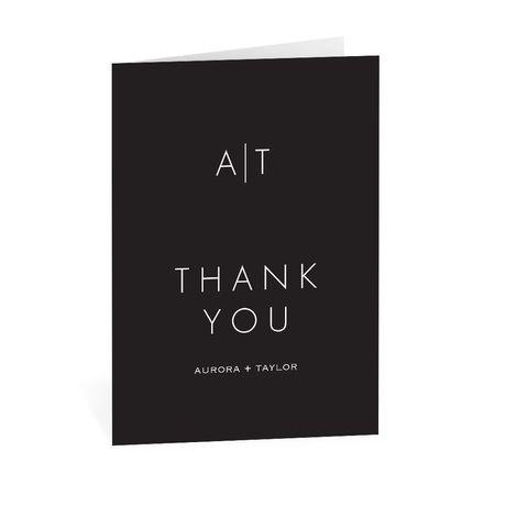Modern Monogram Thank You Card
