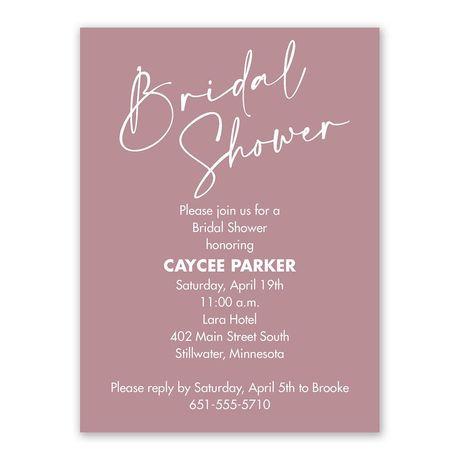 Future Bride Bridal Shower Invitation