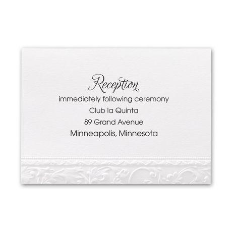 Elegant Filigree - Reception Card