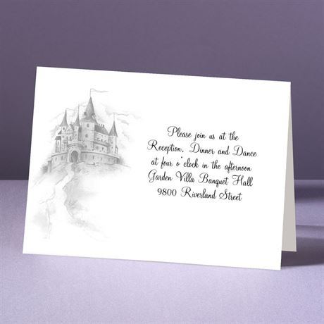 Happily Ever After Tri-Fold - Reception Card
