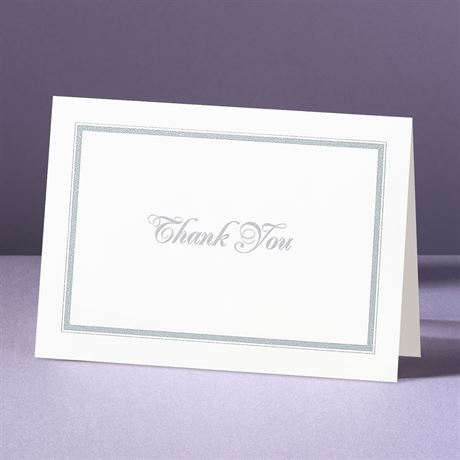 Appealing Borders  Thank You Card and Envelope