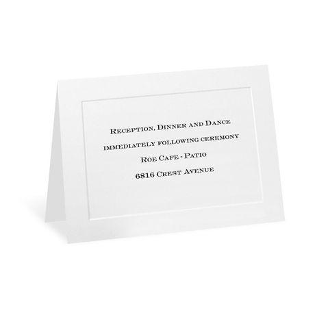 Bright White Reception Card
