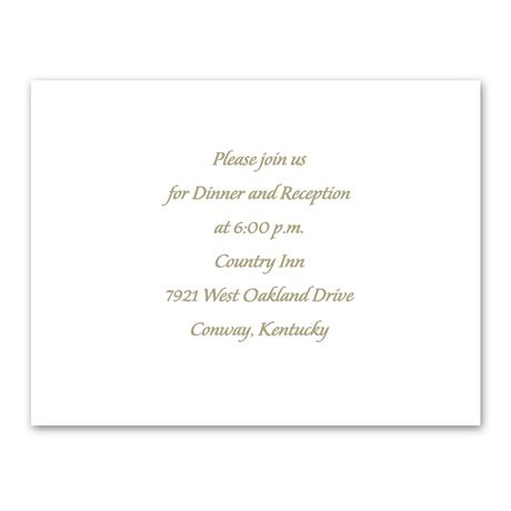 Ring of Love  Reception Card