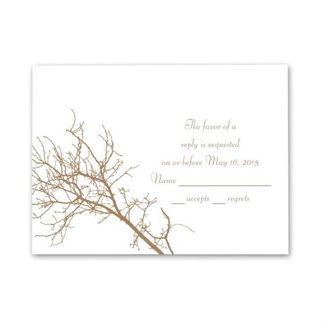 Boughs and Branches  Response Card and Envelope