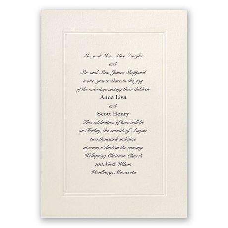 Classic Tradition - Invitation