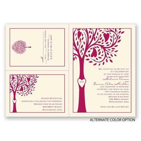 Tree Love - Ecru - Separate and Send Invitation