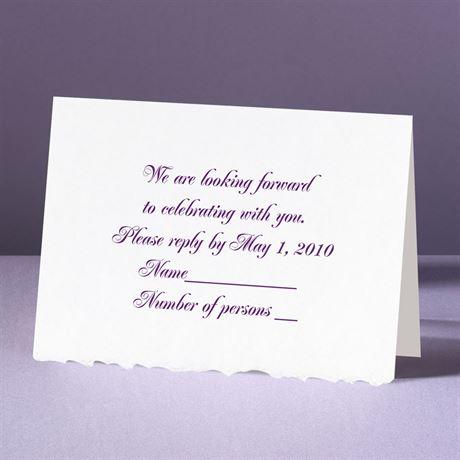 White Deckle Edge  Response Card and Envelope
