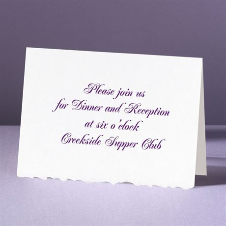 White Deckle Edge - Reception Card