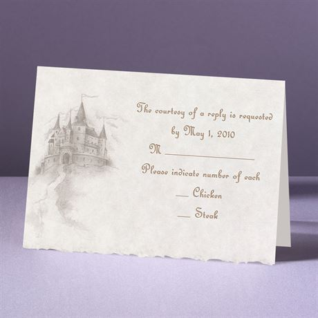 Happily Ever After  Response Card and Envelope