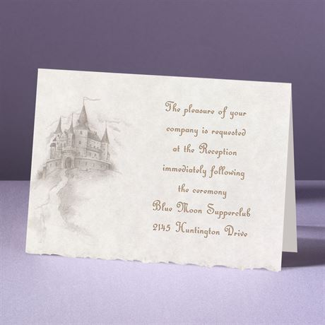 Happily Ever After  Reception Card