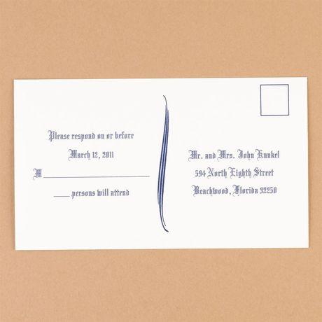 Bright White Response Postcards