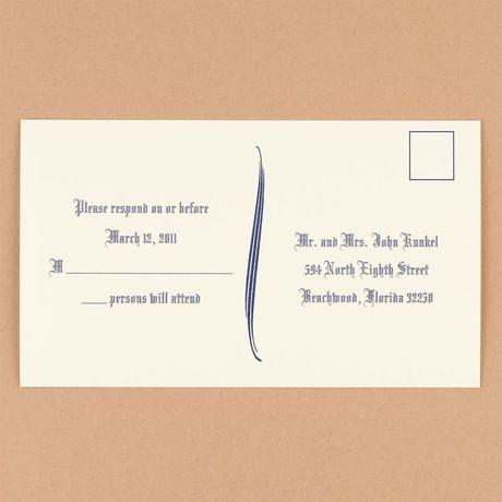 Ecru Response Postcards