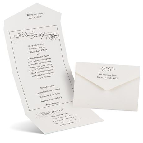 Old Fashioned Style  Seal and Send Invitation