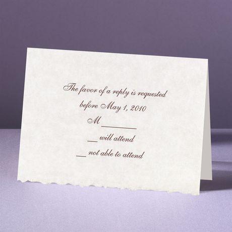 Parchment Deckle Response Card and Envelope