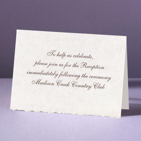 Parchment Deckle Reception Card