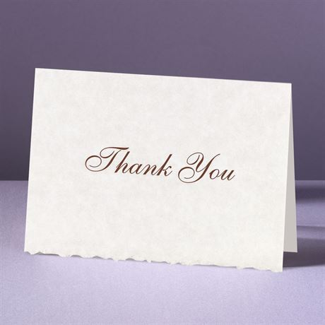 Parchment Deckle Thank You Card and Envelope