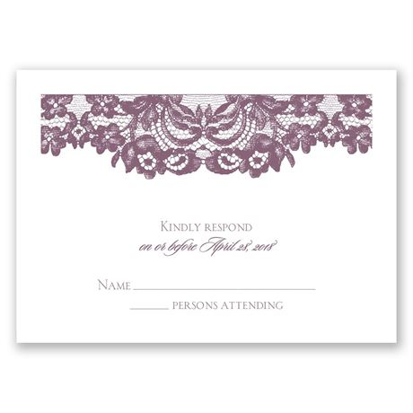 Dressed in Lace Response Card