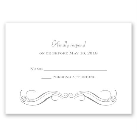 Pretty Swirls Response Card