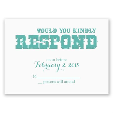 Today I Marry Response Card
