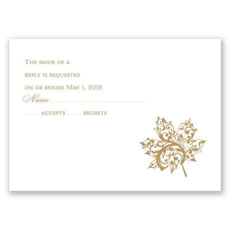 "Autumn""s Grace - Response Card"