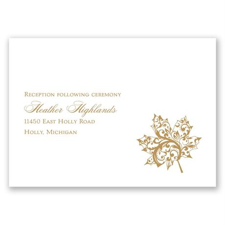 "Autumn""s Grace - Reception Card"