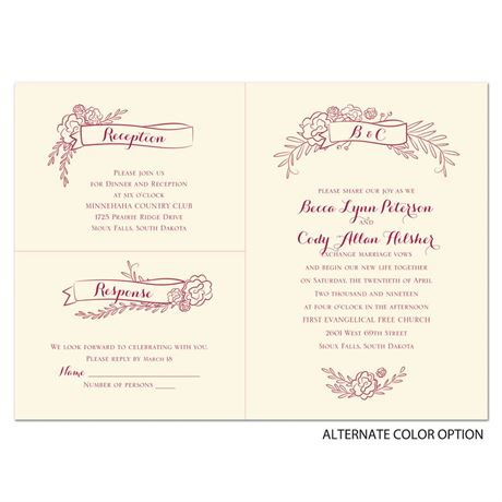 Charming Banners - Ecru - Separate and Send Invitation