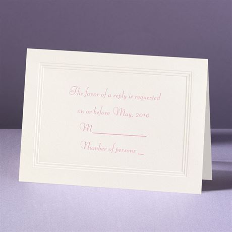Classic Tradition - Response Card and Envelope