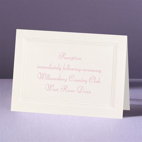 Classic Tradition - Reception Card
