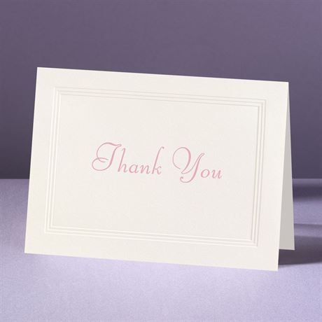 Classic Tradition Thank You Card and Envelope