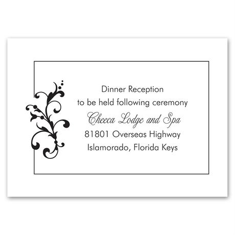 Filigree Perch Reception Card