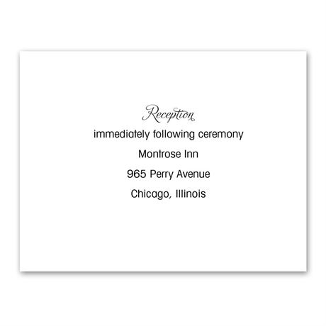 White Thermography Reception Card