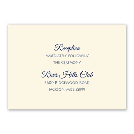 Ecru Thermography Reception Card