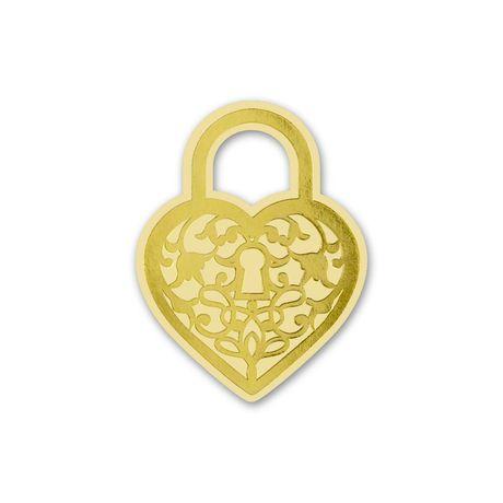 Heart Padlock - Gold - Wedding Seal