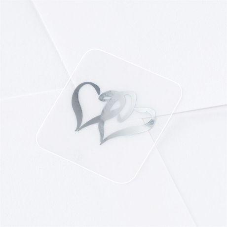 Seals- Silver Swish Hearts