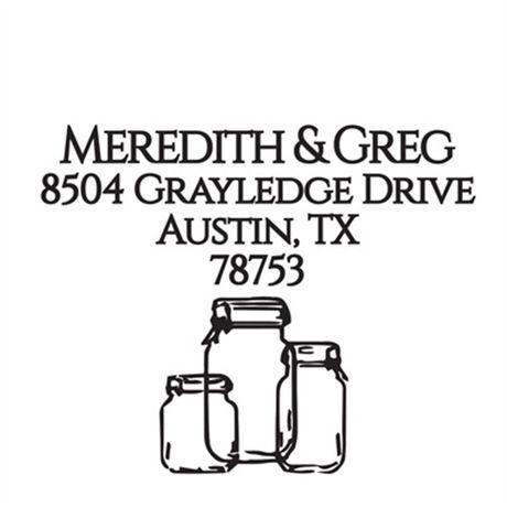 Mason Jar Address Stamp