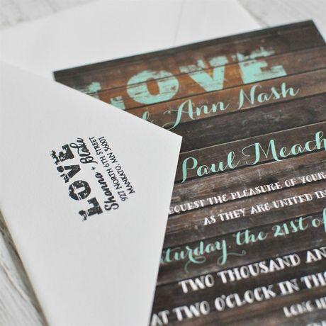 LOVE Address Stamp